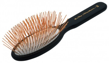 Oval Pin Brush Gold 35mm