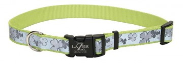 Lazer Brite® Reflective Adjustable Collar -Shamrocks