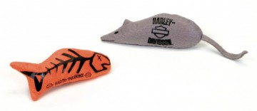 Harley-Davidson® Cat Nip Toy - Fish and Mouse 2pk