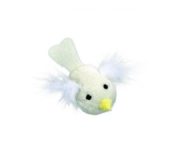 Rascals®  White Bird with Feathers
