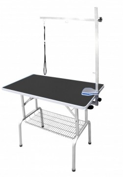 SS Grooming Table Black L