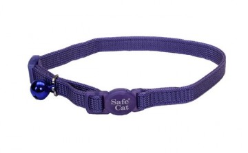 Safe Cat® Nylon Adjustable Breakaway Collar-Paradise Purple
