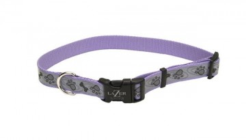 Lazer Brite® Reflective Adjustable Collar -Bones & Paws Large