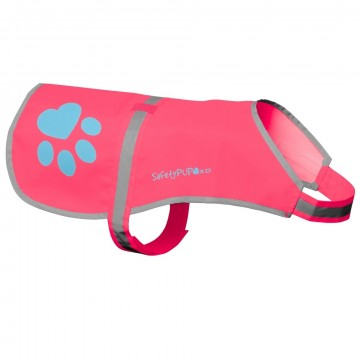 SafetyPUP Refleksvest - Rosa Medium