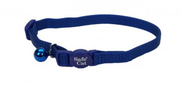 Safe Cat® Nylon Adjustable Breakaway Collar-Blue