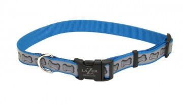 Lazer Brite® Reflective Adjustable Collar -Turquoise Bones