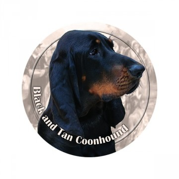 Black and Tan Coonhound 3D Dekal